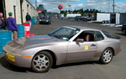 Porsche club 2005 watkins glen race - van svenson driving his 944